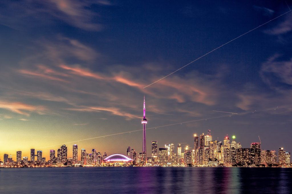 Toronto skyline at night for first time home buyers
